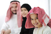Arabic Muslim family — Stock Photo