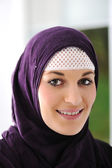 Pretty young Asian Muslim woman — Stock Photo