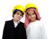 Amerikan ve arapça küçük kurucular — Stok fotoğraf
