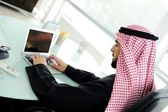 Modern arabic businessman on office — Stock Photo