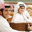 Education activities. Eastern traditional clothes. Oriental fash — Stock Photo