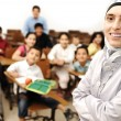 Arabic kids in the school, classroom wit a teacher — Stock Photo