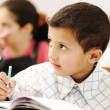 Arabic kids in the school, classroom - Stock Photo