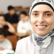 Stock Photo: Arabic kids in school, classroom wit teacher