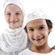 Brother and sister together, arabic muslim traditional clothes — Stock Photo #12097559