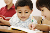 Arabic kids in the school, classroom — Stock Photo