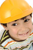 Little cute Arabic child engineer — Stock Photo