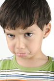 Little angry offended boy — Stockfoto
