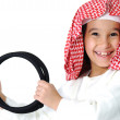 Happy arabic little boy - Stock Photo