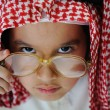 Stock Photo: Happy arabic little boy