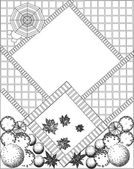 Plan of garden black and white — Stock Vector