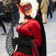 Venice Carnival Celebration Event in Saint Mark Square — Stock Photo #11555745