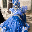 Venice Carnival Celebration Event in Saint Mark Square - Stock Photo