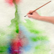 Paper watercolor painted background — Stock Photo