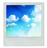 Old instant photo frame — Stock Photo