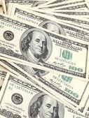 Dollars banknotes background — Stock Photo