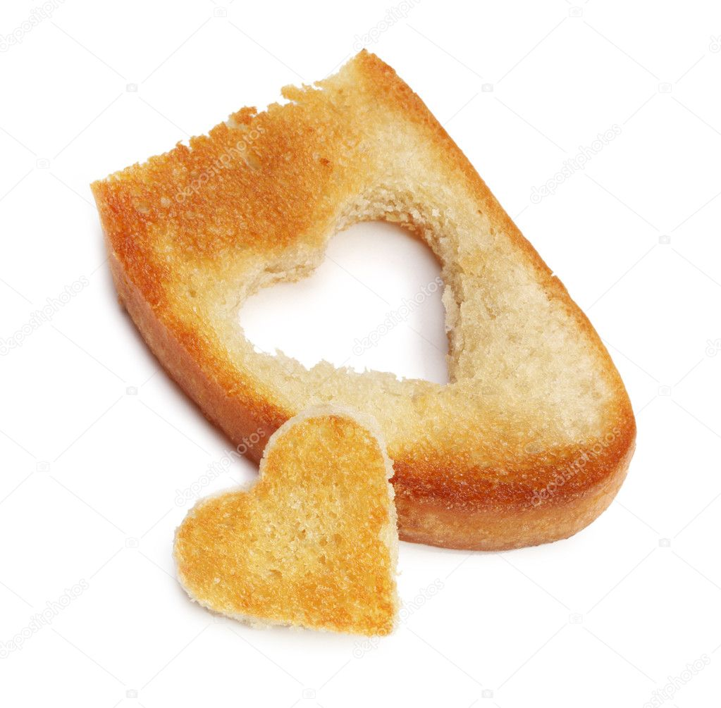 Heart bread toast — Stock Photo #11993300