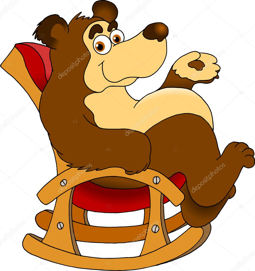 Download - Bear on a chair — Stock Illustration #11716189