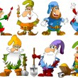 Funny gnomes - Stock Vector