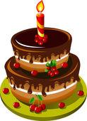 Chocolate cake — Vetorial Stock