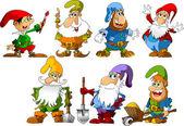 Gnomes drôles — Vecteur