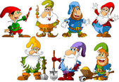 Funny gnomes — Stock Vector