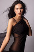 Fashionable photo of elegant girl — Stock Photo