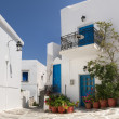 Typical street in Greece - Stock Photo