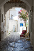 Typical small street in Greece — Stock Photo