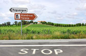 Roadsigns at portuguese road — Stock Photo