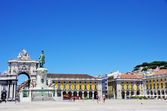 Terreiro do paço square at Lisbon — Stock Photo