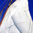 White sails of yachts and blue sky — Stock Photo #11813789