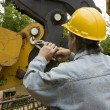 Heavy equipment mechanic — Stock Photo