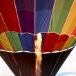 Filling hot air balloon — Stock Photo