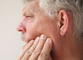 Man with tooth or jaw pain — Stock Photo