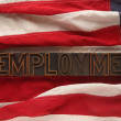 Unemployment on American flag — Stockfoto