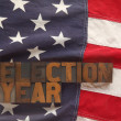 Americflag with election year words — Stock Photo #11127983