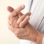 酸痛的手指 — 图库照片