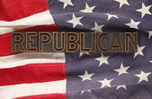 Flag with Republican word — Stock Photo