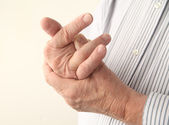 Aching fingers — Stock Photo