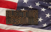 Election results on USA flag — Stock Photo