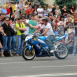 Bikers meeting and show on Kiev City Day — Stock Photo