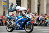 Bikers meeting and show on Kiev City Day — Stockfoto