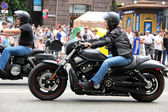 Bikers meeting and show on Kiev City Day — Foto Stock