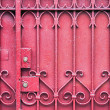 Red Gate with Lock — Stock Photo #11404471