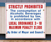Alcohol Consumption Prohibited Sign — Stock Photo