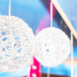 Christmas ball with copy space — Stock Photo