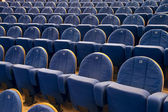 Rows of chairs in cinema or theater — Stock Photo