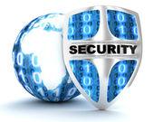 Terra e escudo de segurança — Foto Stock