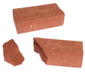 Broken) brick — Стоковое фото